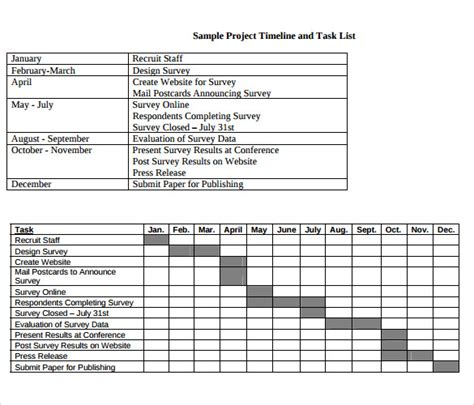 Sle Of Project Task List Template Pictures To Pin On Task Timeline Template