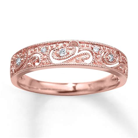 rose gold rose gold ring kay jewelers rose gold rings