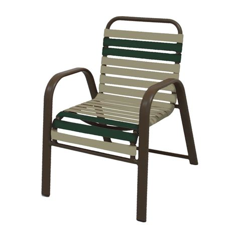 Marco Island White Commercial Grade Aluminum Vinyl Cross Patio Dining Chair