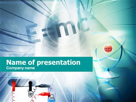 physics lessons presentation template for powerpoint and