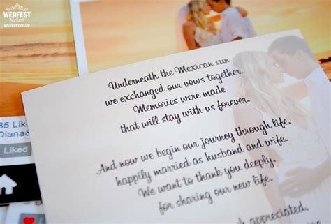 thank you poems for wedding presents instagram style wedding thank you cards wedfest