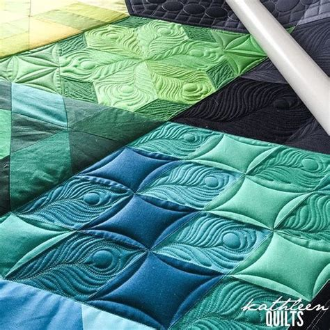 decke quilten quilts peacock feathers quilting