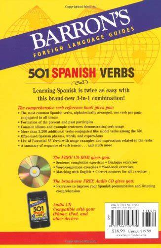 libro 501 spanish verbs 501 barron s 501 spanish verbs corsi di lingue straniere e supporti didattici panorama auto