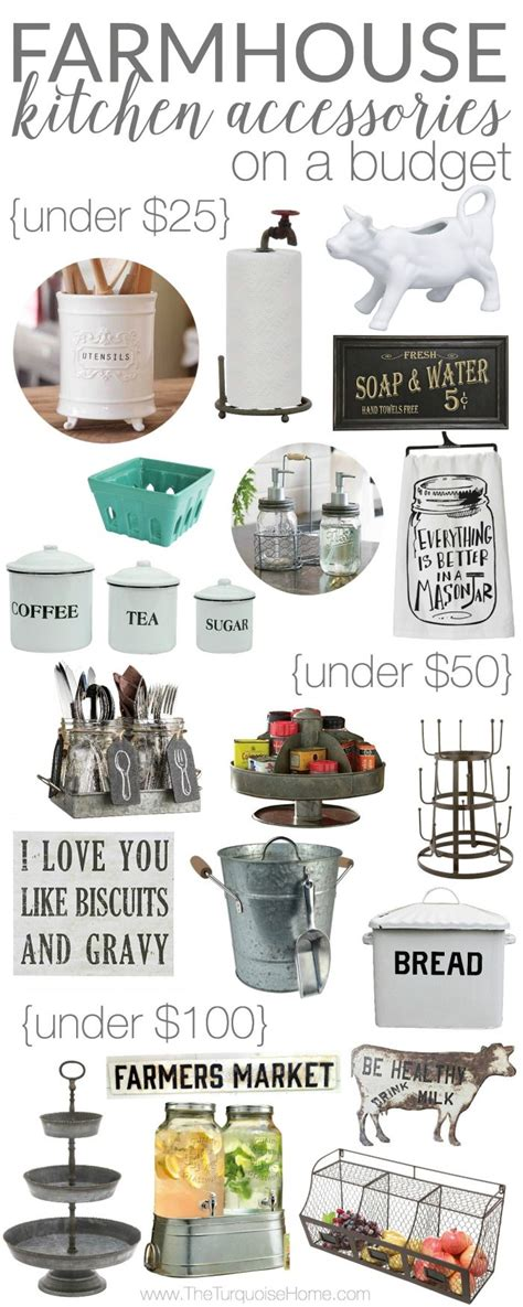 Metal Canisters Kitchen Farmhouse Kitchen Accessories On A Budget