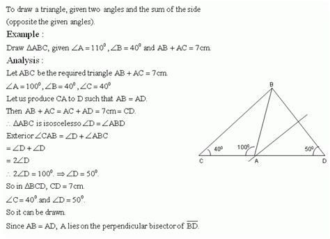 Construction Worksheets Geometry by Construction Of Triangle X High School Mathematics
