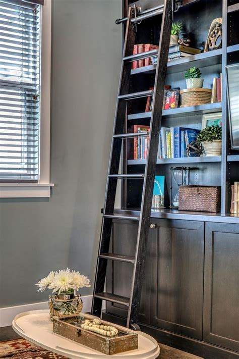 25 best images about bookshelves with library ladder on