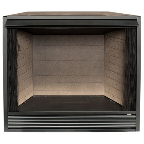 lowes gas fireplace insert shop procom 43 in w black vent free gas fireplace firebox
