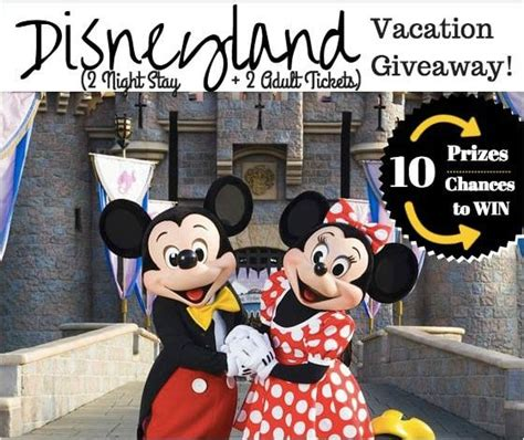 Disney Vacation Giveaways - ultimate disney vacation giveaway
