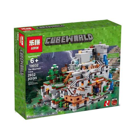 downtheblocks lepin 18032 minecraft the mountain cave