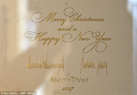 trump christmas card doesnt  happy holidays daily mail