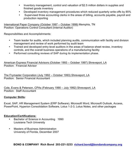 Plant Controller Sle Resume by Plant Controller Resume For Free Page 2 Formtemplate