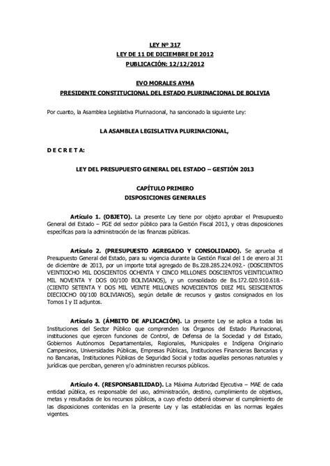ley 12015 de 21 de diciembre del presupuesto de la ley n 176 317 de 11 12 2012 ley del presupuesto general del