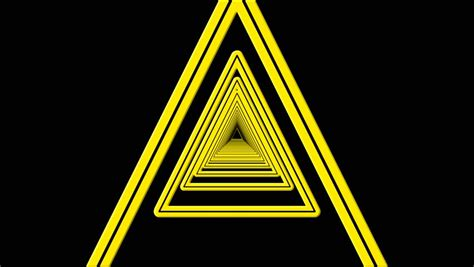 sketchup layout yellow triangle geometric triangle tunnel abstract motion black background