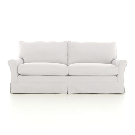 crate and barrel sofa slipcovers harborside slipcovered apartment sofa crate and barrel