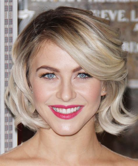dancing with the stars side swept bang ebony julianne hough medium wavy formal hairstyle with side
