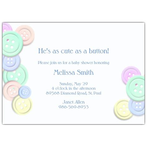 As A Button Baby Shower Ideas by As A Button Baby Shower Invitations Paperstyle