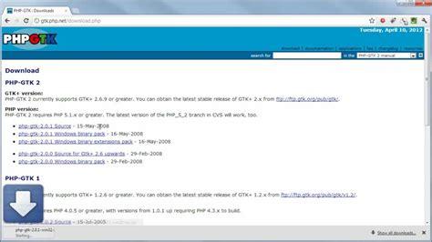 tutorial php gtk php tutorial install gtk build gui desktop application