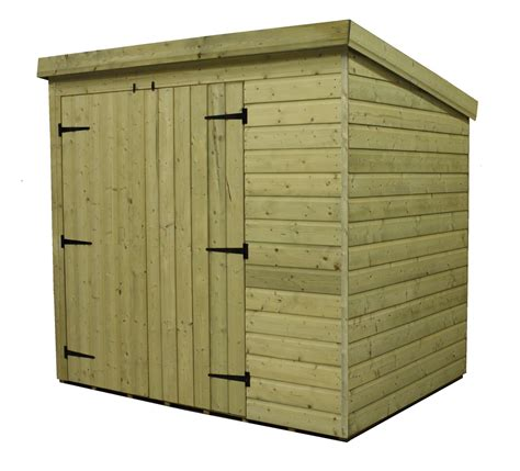 Pent Shed 6 X 3 by 6 X 3 Windowless Pressure Treated Tongue And Groove Pent