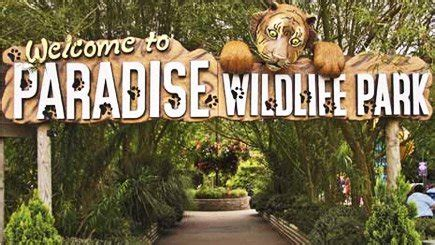 discount voucher paradise wildlife park family four 2a 2c tickets to paradise wildlife park and