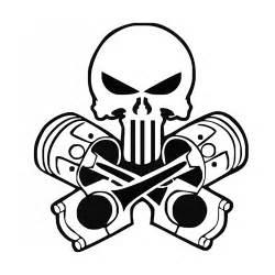 Punisher pistons laptop car truck vinyl decal window sticker pv247