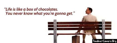 forrest gump chocolates quote facebook covers