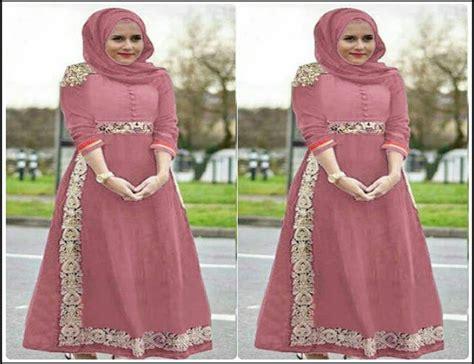 Baju Muslim Baju Dress Gamis Muslim Bahan Katun baju gamis pesta bahan katun gambar baju gamis