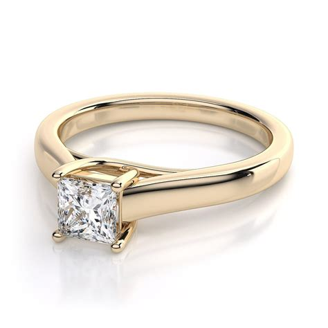 Gold Square Engagement Rings by Gold Square Rings Diamondstud