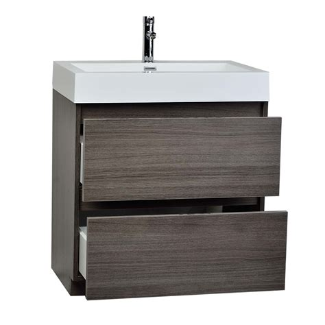 22 Inch Bathroom Vanities 29 5 Inch Contemporary Bathroom Vanity Grey Oak Optional