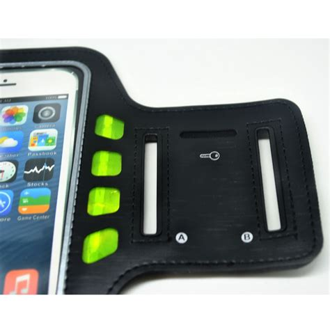 Sport Running Armband With Led For Smartphone 4 7 Inch Sport Running Armband With Led For Smartphone 4 7 Inch Black Green Jakartanotebook