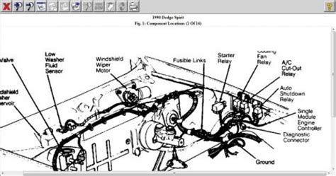 1990 Dodge Spirit Feul Pump Relay Engine Mechanical
