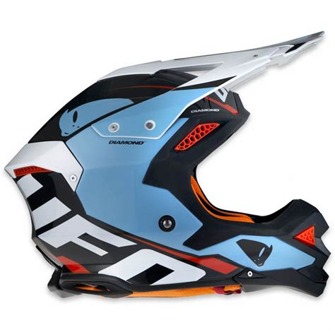 ufo motocross helmet ufo offroad helmet light blue motostorm