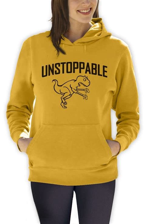 Meme Hoodie - unstoppable t rex t rex toy claw hand women hoodie hates