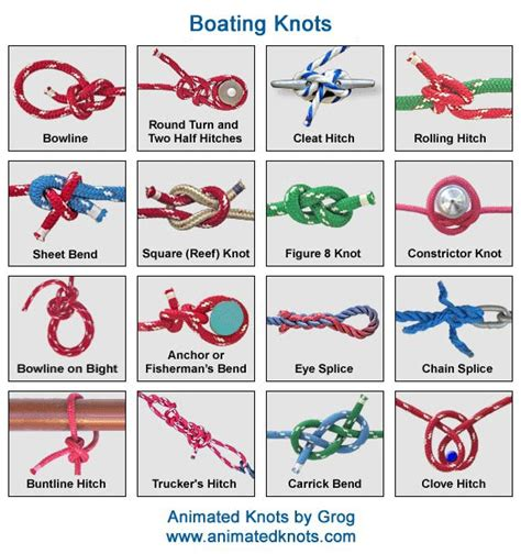 good boat knots boating knots good 2 know pinterest