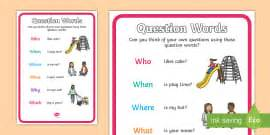 preguntas answer the following questions using complete sentences question words poster pack displays display questions