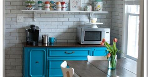 Dining Room Buffet Ideas made more room in the kitchen by creating a coffee bar