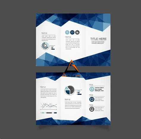 design flyer keren free download vector brosur triangulation keren