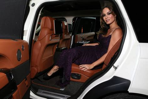 range rover truck in skyfall b 233 r 233 marlohe attends unveiling of exclusive range