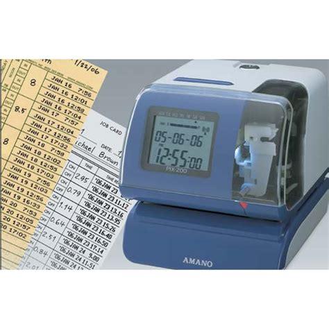 Mesin Absensi Manual jual mesin absensi amano pix 200 harga spesifiaksi
