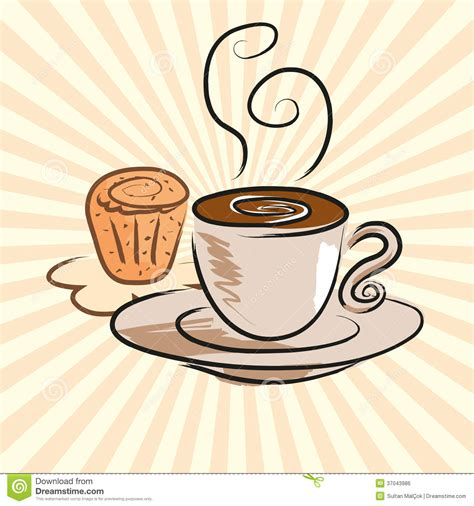clipart kaffee und kuchen coffee and cake royalty stock image image 37043986