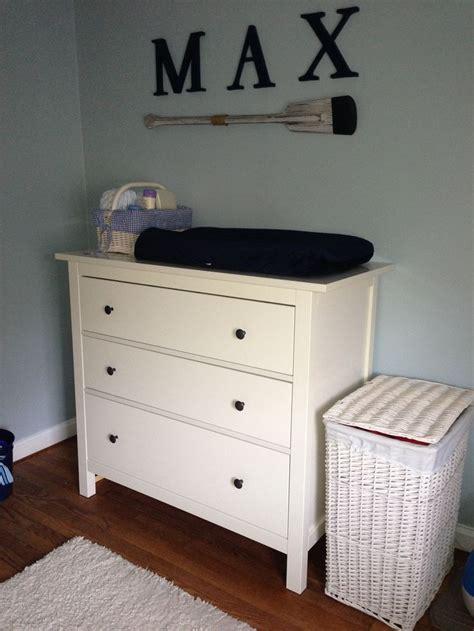 Navy Blue Dresser Ikea Small Nursery Nautical Themed Boy Nursery Navy And White Ikea Hemnes Dresser As Changing