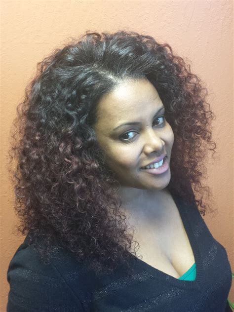 curly sew in with braids full sew in human hair extensions with curly spanish wave