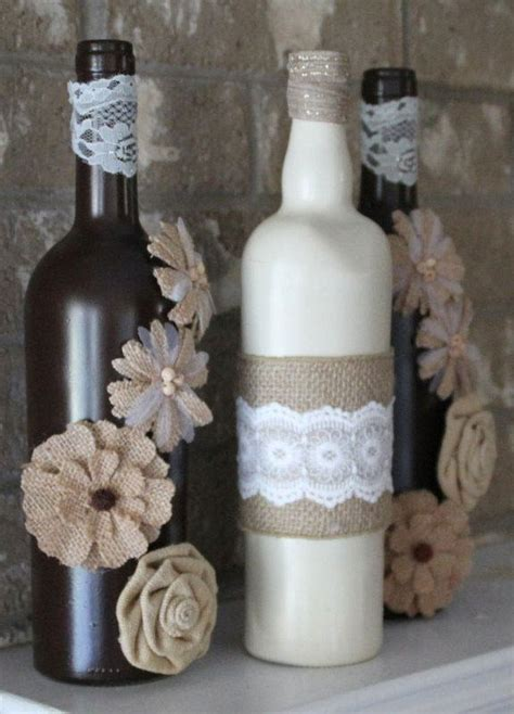 garrafas decoradas home garrafas decoradas renda 80 modelos e passo a passo