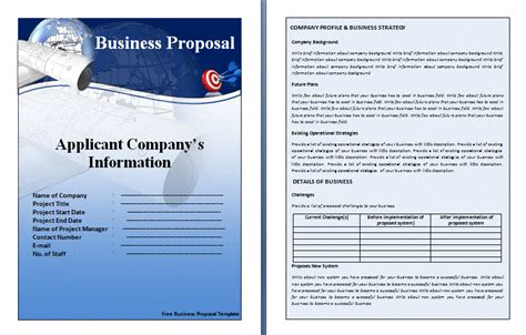 Sample Of Resume In Word Format by Template For Business Proposal Business Proposal