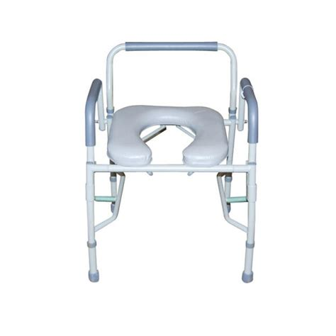 bed side commode steel drop arm bedside commode with padded seat and arms