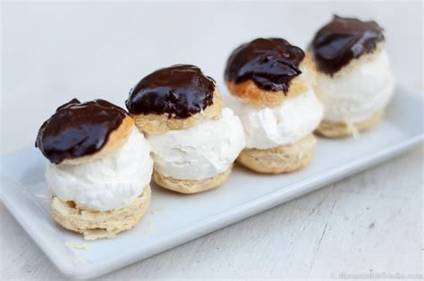 desserts ice cream profiteroles the amiable cooks easy dessert