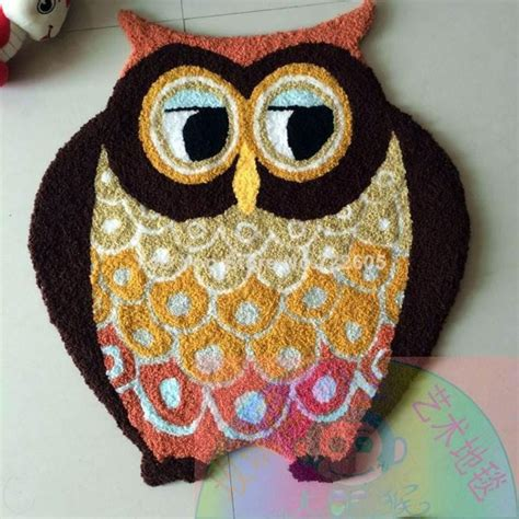 owl shaped rug handmade animal owl rug machine washable rugs floor mat carpet to room tapis alfombras 70 65cm