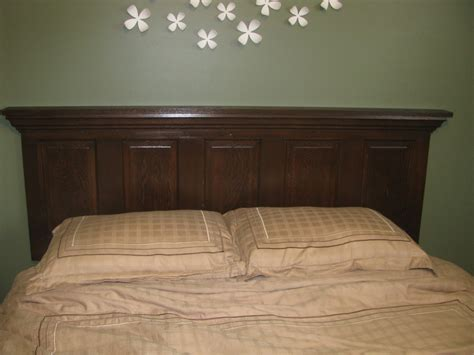 make a headboard out of a door taylor made old door headboard tutorial