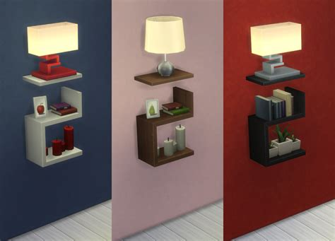 mod the sims intellectual illusion wall shelf