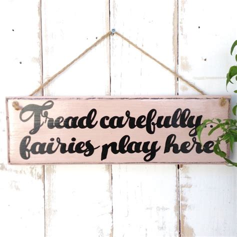personalised wooden fairy garden sign by potting shed designs notonthehighstreet com