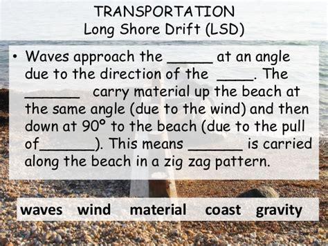 pattern formation gravity l3 ap longshore drift and deposition